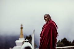 修士在尼泊尔 库存图片