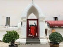 修士在泰国 免版税库存图片