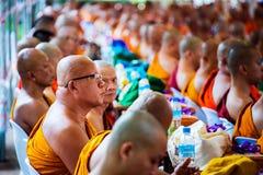 修士在清迈,泰国 库存图片