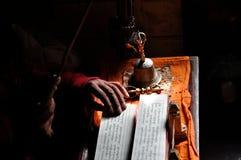 修士在Lamayuru 免版税图库摄影