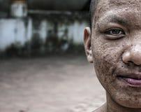 修士抽象的老挝 库存照片
