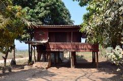 修士的房子在Tai Ta Ya修道院或圣地Roi吨寺庙里 免版税图库摄影