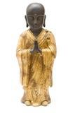 修士祈祷的雕象 图库摄影