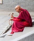 修士藏语 库存照片