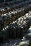 修士雕象石头 图库摄影