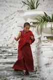 年轻修士- Rinpung Dzong - Paro -不丹 免版税库存图片