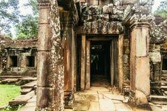 修士Banteay Kdei城堡  库存图片