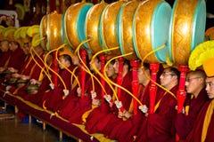 修士Gyuto修道院, Dharamshala,印度 库存照片