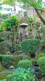 修士Kosanji寺庙Shinran statuel在日本 免版税库存图片
