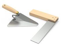 修平刀和正方形 免版税库存照片
