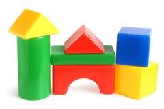 修建儿童房子的块做s 免版税库存照片