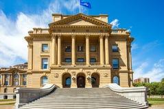 修建埃德蒙顿加拿大的亚伯大立法机关 免版税库存图片