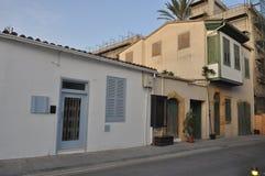 修建尼科西亚的美好的耶路撒冷旧城中心在塞浦路斯 免版税图库摄影