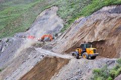 修建或修理山路 免版税库存照片