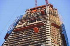 修建新的高层建筑物 免版税图库摄影