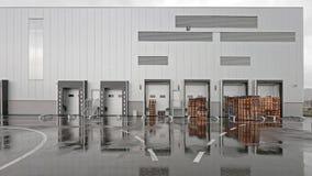 修建概念行业采购管理系统存储仓的配件箱 图库摄影
