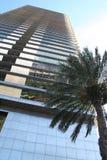 修建现代摩天大楼西班牙的巴塞罗那 库存图片