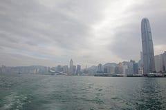 修建街市香港的IFC 库存图片