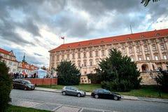 修建Cerninsky宫殿的政府在洛雷托省Loreta广场在布拉格,捷克 免版税库存图片