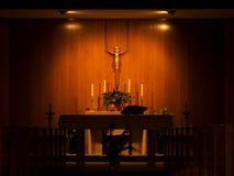 修改天主教教会 库存图片