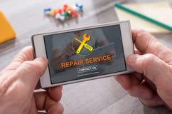 修理公司的概念 免版税库存照片