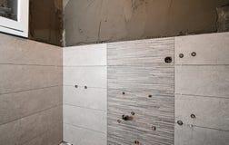 修理卫生间 整修在家 免版税库存照片