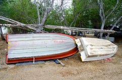 修理和维护小船 免版税库存照片