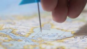 修理在地图的经理蓝旗信号,任命公司的新的地点分支 股票录像