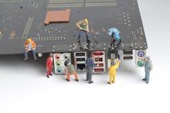 修理委员会、配合和技术概念 库存照片