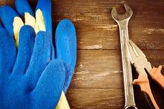 修理或大厦工具 免版税库存图片