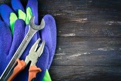 修理或大厦工具 免版税图库摄影