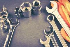 修理或大厦工具 免版税库存照片