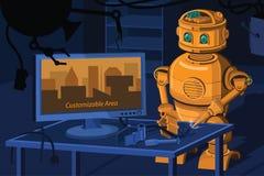 修理机器人 免版税库存图片