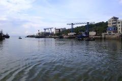 修理渔码头的工厂 库存照片