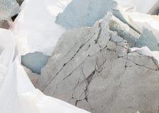 修理玻璃纤维增强树脂涂层小块  库存图片