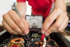 修理电子用试测器材 图库摄影