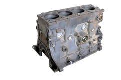 修理的被拆卸的柴油引擎 气缸座 免版税库存照片