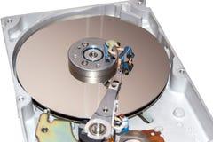 修理硬盘的工作者 残破的计算机设备 人图 免版税图库摄影