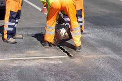 修理街道工作 免版税库存图片