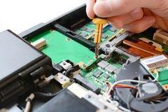 修理计算机 免版税库存照片