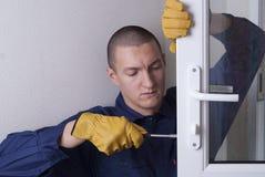 修理门锁 库存照片