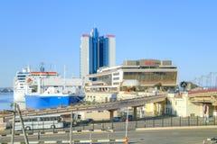 维修站大海洋军事岗位 市傲德萨 库存照片