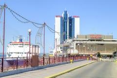 维修站大海洋军事岗位 市傲德萨 免版税库存图片