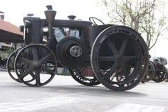 1934修造了拖拉机Landini 库存图片