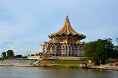 修造古晋马来西亚的沙捞越状态立法议会汇编 免版税库存照片