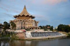 修造古晋马来西亚的沙捞越状态立法议会汇编 库存图片