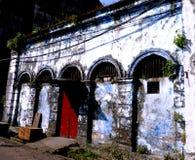 修造和在缅甸(缅甸)的老石制品 图库摄影