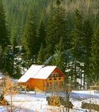 修造喀尔巴汗的山,乌克兰 免版税库存图片