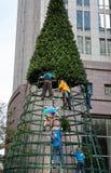 修造圣诞树 库存照片