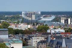 修造在史特拉斯堡,法国的欧洲议会 免版税库存图片
